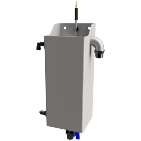 SS external reservoir with level switch for dilution water
