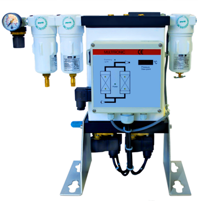 External compressed air purifier for CO<sub>2</sub> free air for TOC analyzers